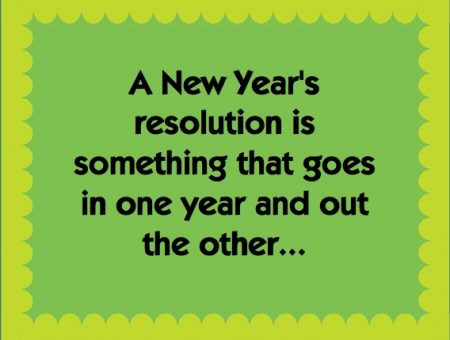 New Year's Resolutions don't work