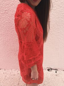 Red lace Valentine's Day dress